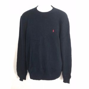Polo by Ralph Lauren Crewneck Sweater Large Navy